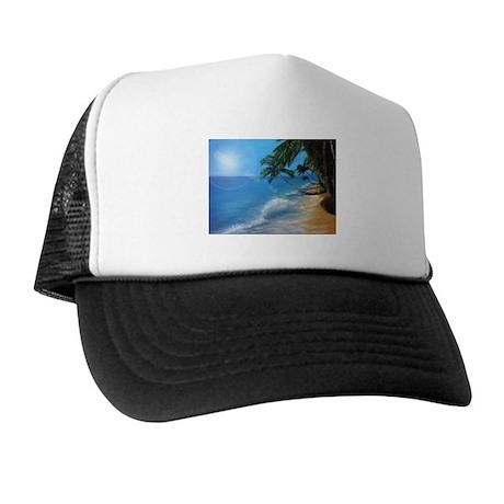 Tropical hawaji beach holiday Trucker Hat