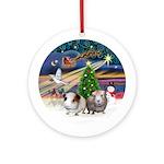 Xmas Magic - Two Guinea Pigs - Ornament (Round)