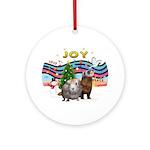 XmasMusic1-Guinea Pig & Ferret - Ornament (Ro