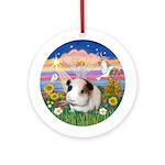 CloudAngel3 - Guinea Pig #1 Ornament (Round)