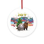 Xmas Music-Guinea Pig and Ferret Ornament (Round)