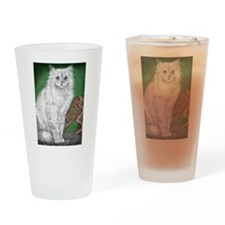 """CHRISTMAS PERSIAN"" Drinking Glass"