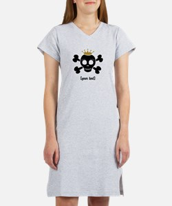 [Your text] Princess Skull Women's Nightshirt