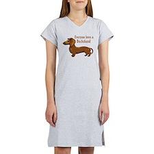 Everyone Loves A Dachshund Women's Nightshirt