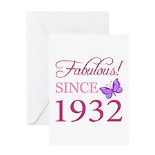 Fabulous Since 1932 Greeting Card