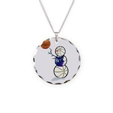 Basketball Snowman Necklace