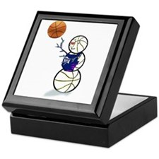 Basketball Snowman Keepsake Box