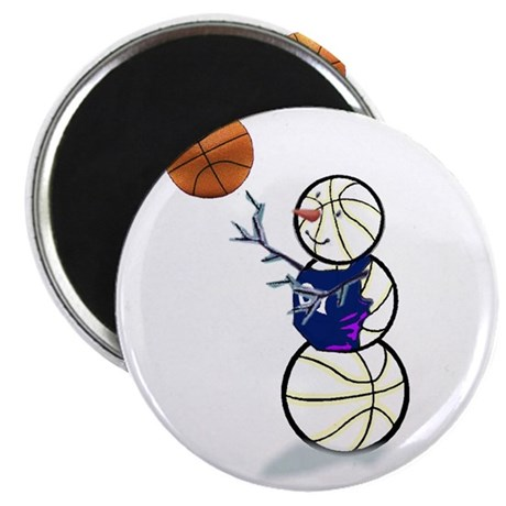 """Basketball Snowman 2.25"""" Magnet (10 pack)"""