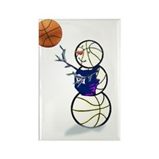 Basketball Snowman Rectangle Magnet (10 pack)