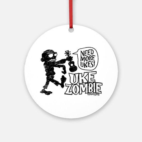 Uke Zombie Ornament (Round)