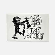 Uke Zombie Rectangle Magnet