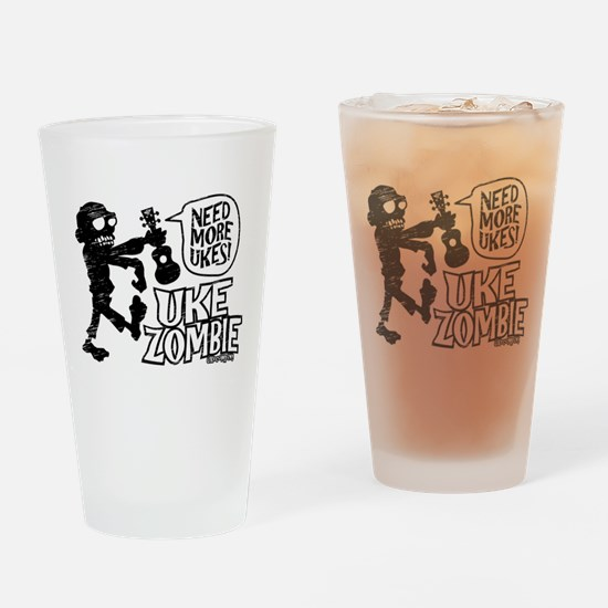 Uke Zombie Drinking Glass