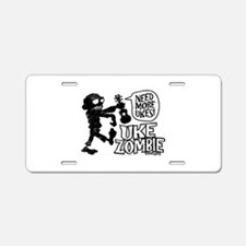 Uke Zombie Aluminum License Plate