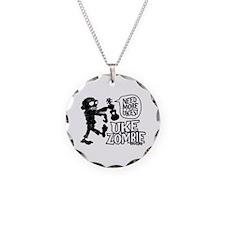 Uke Zombie Necklace Circle Charm