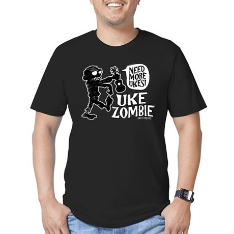 Uke Zombie Men's Fitted T-Shirt (dark)