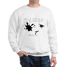 Mathew 5:8 Mens Sweatshirt