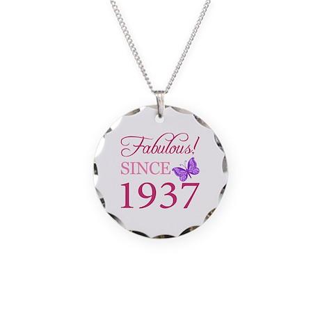 Fabulous Since 1937 Necklace Circle Charm