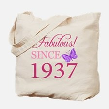 Fabulous Since 1937 Tote Bag