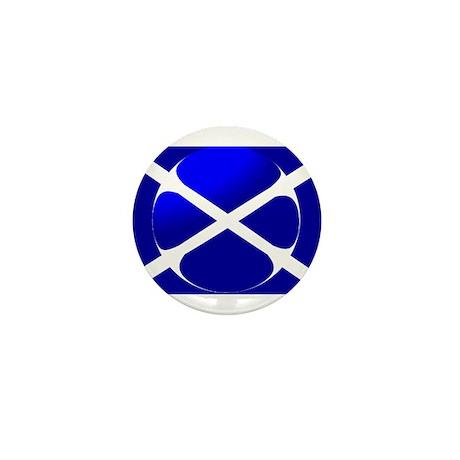 Scottish Flag Design Mini Button (100 pack)