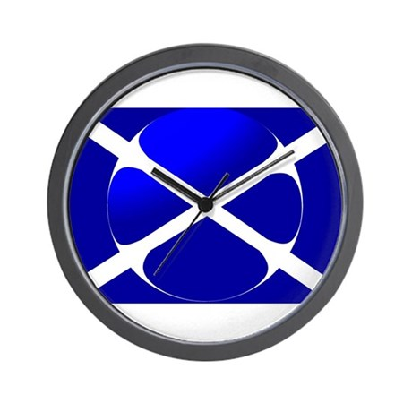 Scottish Flag Design Wall Clock By Worldflags2