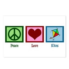 Peace Love Kites Postcards (Package of 8)