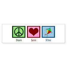 Peace Love Kites Bumper Sticker