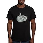 Ring Holder Diamond Ring Men's Fitted T-Shirt (dar