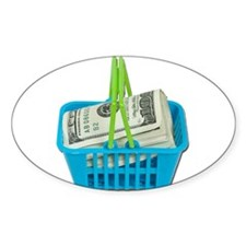 Shopping Basket Full of Cash Decal