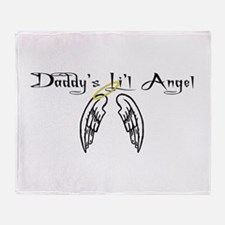 Daddy's Li'l Angel Throw Blanket