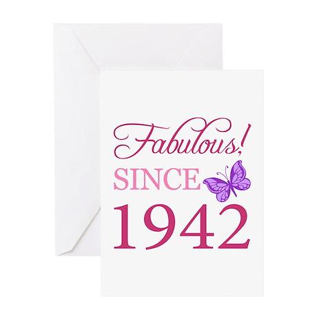 Fabulous Since 1942 Greeting Card