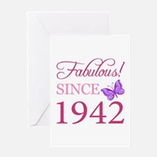Fabulous Since 1942 Greeting Card