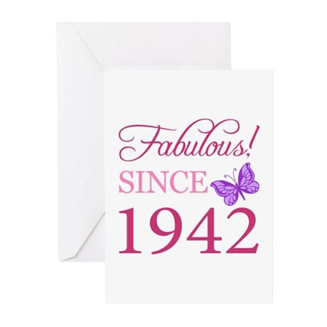 Fabulous Since 1942 Greeting Cards (Pk of 10)