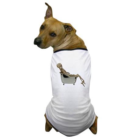 Skeleton Bathtub Dog T-Shirt
