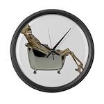 Skeleton Bathtub Large Wall Clock