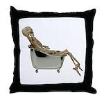 Skeleton Bathtub Throw Pillow