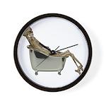 Skeleton Bathtub Wall Clock