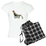 Skeleton Bathtub Women's Light Pajamas