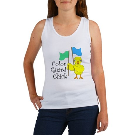 Color Guard Chick Text Women's Tank Top