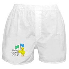 Color Guard Chick Text Boxer Shorts