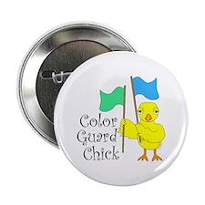 "Color Guard Chick Text 2.25"" Button"