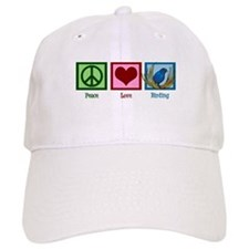 Peace Love Birding Baseball Cap