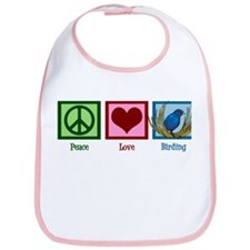 Peace Love Birding Bib