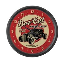Nor-Cal Speed Shop Large Wall Clock
