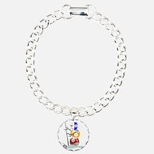 Billiards Cue Ball Snowman Bracelet