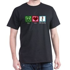 Peace Love Belly Dancing T-Shirt