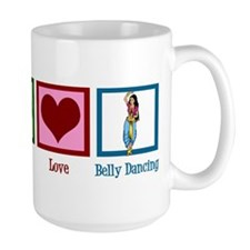 Peace Love Belly Dancing Mug