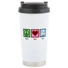 Peace Love Cook Travel Mug