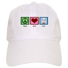 Peace Love Cook Baseball Cap