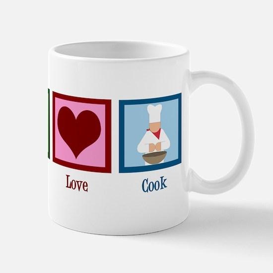 Peace Love Cook Mug