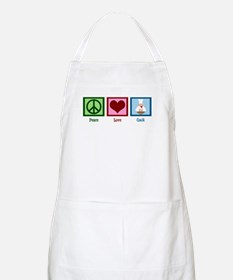 Peace Love Cook Apron